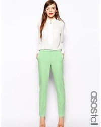 Tall cigarette pants in crepe medium 97854