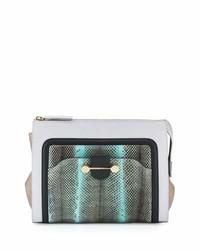 Daphne watersnake leather clutch bag glass medium 4106330