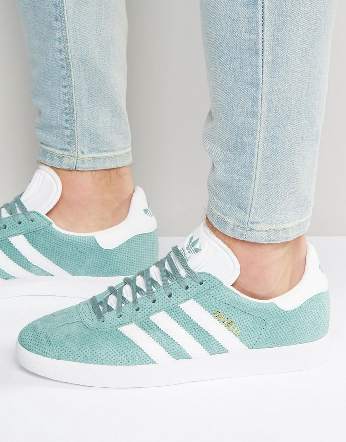 ... adidas Originals Gazelle Sneakers In Green Bb5494 ...