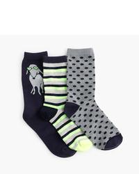J.Crew Girls Trouser Socks Three Pack