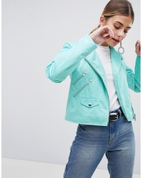 ASOS DESIGN Ultimate Suedette Biker Jacket