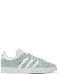 adidas Originals Green Perforated Gazelle Sneakers