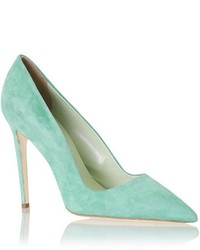 Mint Suede Pumps