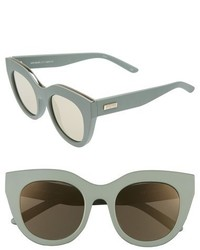 Le Specs Air Heart 51mm Sunglasses Matte Olive Gold