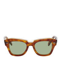 Ray-Ban Brown And Green State Street Sunglasses