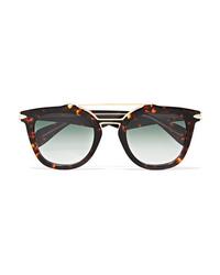 Rag & Bone Cat Eye Tortoiseshell Acetate And Gold Tone Sunglasses