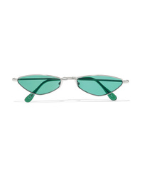 Andy Wolf Eliza Oval Frame Metal Sunglasses
