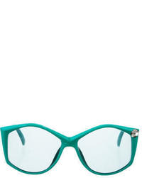 Christian Dior Logo Embellished Oversize Sunglasses