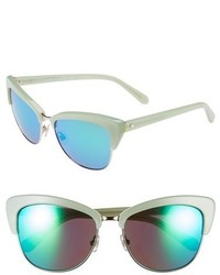 Kate Spade New York Genette 56mm Cat Eye Sunglasses Mint