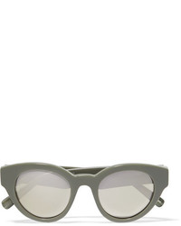 Elizabeth and James Payton Cat Eye Acetate Sunglasses Green