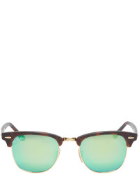tortoise shell clubmaster gr30  Ray-Ban Gold Tortoiseshell Clubmaster Sunglasses Out of stock