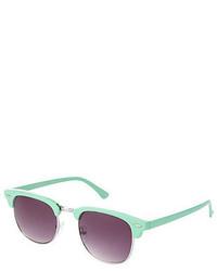 Charlotte Russe Retro Plastic Tipped Round Sunglasses