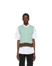 Raf Simons Green Graphic Vest