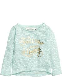 H&M Cotton Blend Knit Sweater Mint Green Kids