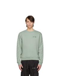 Off-White Green Slim Fit Logo Sweatshirt