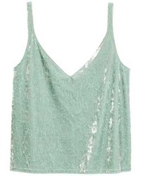 H&M Crushed Velvet Camisole Top