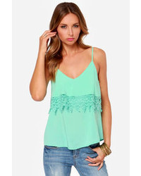 Cotton Candy From Tier To There Mint Green Tank Top