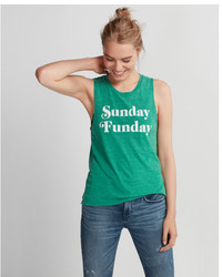 Express Green Sunday Funday Muscle Tank