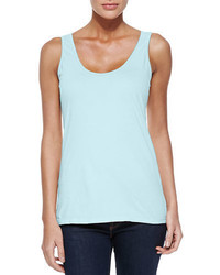 Johnny Was Scoop Neck Cotton Tank Plus Size