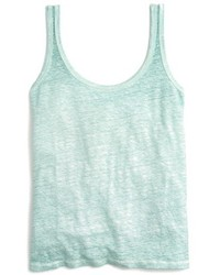 J.Crew Scoop Neck Linen Tank Top