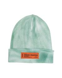 Heron Preston Logo Label Tie Dye Wool Blend Beanie