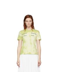Proenza Schouler Green Ps Ny Tie Dye T Shirt
