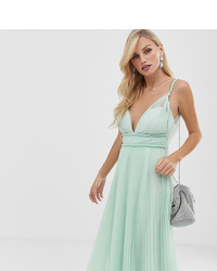 ASOS DESIGN Twist Plunge Tulle Midi Dress