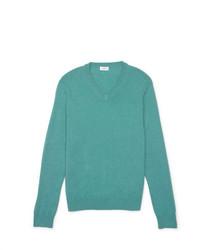Cashmere v neck sweater medium 333643