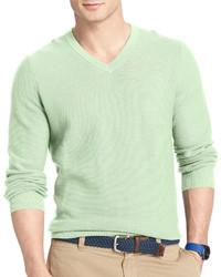 Izod Fine Gauge V Neck Sweater