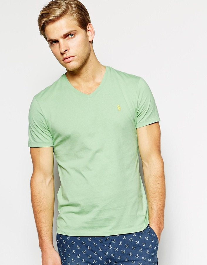 Mint V Neck T Shirt Polo Ralph Lauren V Neck T Shirt