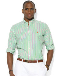 Mint Vertical Striped Dress Shirts for Men | Men's Fashion