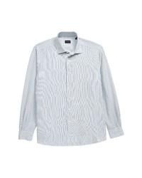 Ermenegildo Zegna Classic Fit Stripe Button Up Shirt