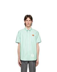 Thom Browne Green Oxford Basketball Shirt