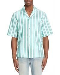Acne Studios Textured Stripe Camp Shirt