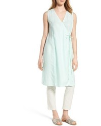 Eileen Fisher Long Wrap Front Vest