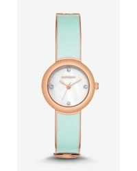 Express Enameled Bangle Watch Mint