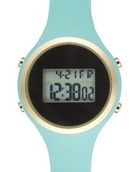 Titanium Lcd Silicone Strap Watch 39mm