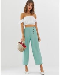 Vero Moda Button Detail Wideleg Trouser