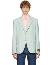 Gucci Blue Eschatology Cotton Mohair Blazer