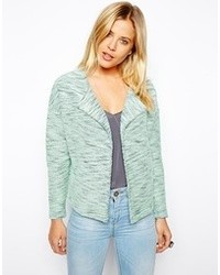 Asos Blazer In Boucle With Waterfall Mint