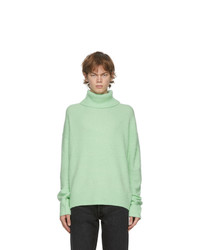 Acne Studios Green Wool And Cashmere Turtleneck