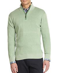 Mint Zip Neck Sweater