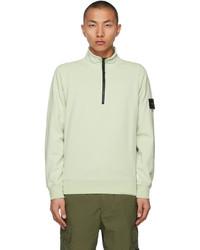 Stone Island Green Half Zip Sweater