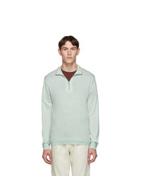 Paul Smith Green Merino Half Zip Sweater