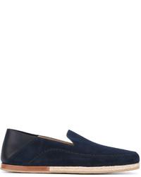 Mocasín de cuero azul marino de Ermenegildo Zegna