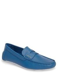 Mocasín de cuero azul de Calvin Klein