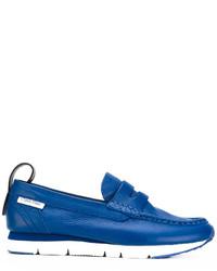 Mocasín de cuero azules de Calvin Klein