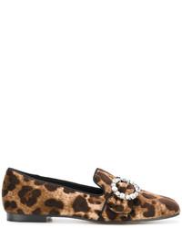 Mocasín estampados marrónes de Dolce & Gabbana