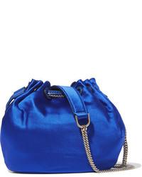 Mochila con cordón azul de Diane von Furstenberg