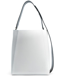 Mochila con cordón de cuero blanca de Calvin Klein